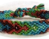 Autumnal Handmade  Friendship Bracelet, Macrame, Woven Bracelet, Wristband, Knotted Bracelet