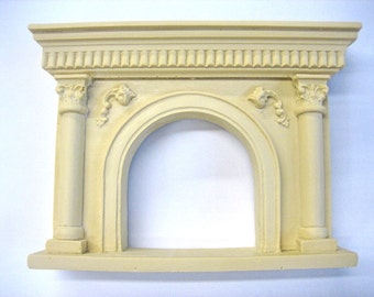 Dollhouse Miniature Fireplace Mantle