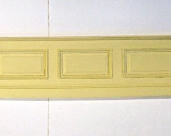 Dollhouse Miniature Wall Paneling - Raised Panel - Bendable