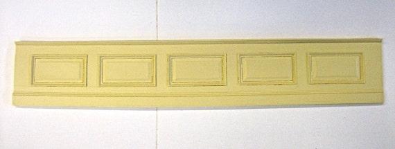 Dollhouse Miniature Wall Paneling Raised Panel Bendable