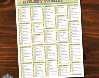 Printable Grocery List - Printable Shopping List - Customizable - PDFs