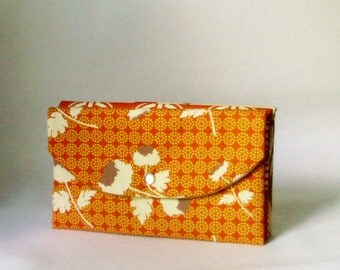 Bridesmaid Clutch - Tossed Flowers in Rust - fall wedding Clutch