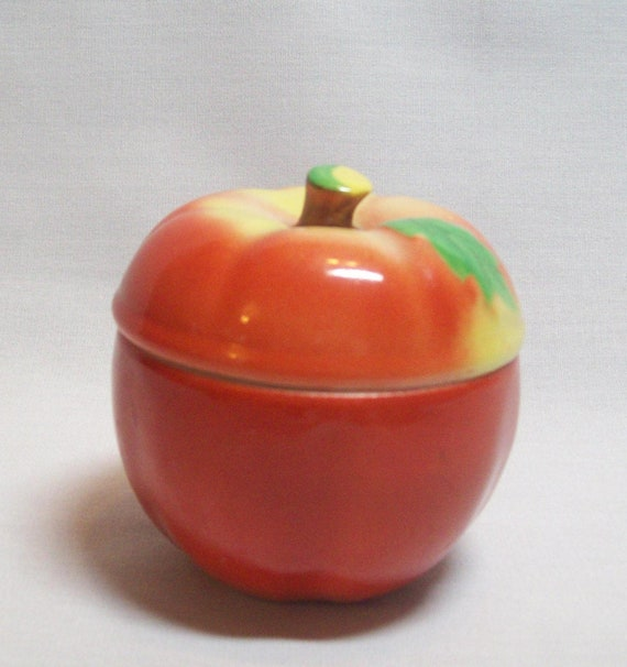 Vintage Apple Container made from ceramic - Marked Japan on Bottom - 1950's - 1960's
