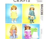 McCall's Crafts M4336 1920s Era Doll Clothing Pattern  - Like New Unused