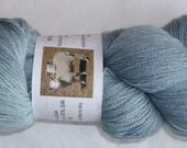 Superfine Merino/Silk  lace wt powder blue yarn