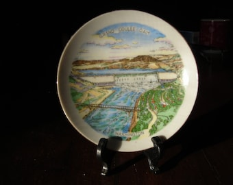 Miniature Collectors Plate of The Grand Coulee Dam Washington