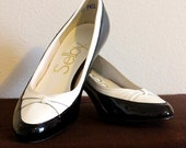 Selby Black and White Connie Heels Size 7.5