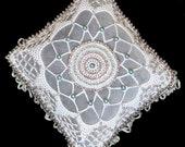"Diamond shaped, ""Cat's cradle"" design, Pincushion"