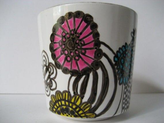 Illustrated Flower mug