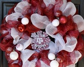 Texas A&M Gig Em Aggies Deco Mesh Wreath