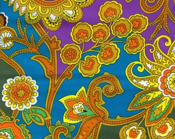 Vintage Paisley Fabric - 1 Yard
