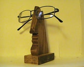The Nose Wooden Eye Glasses Holder.  Decorative Piece