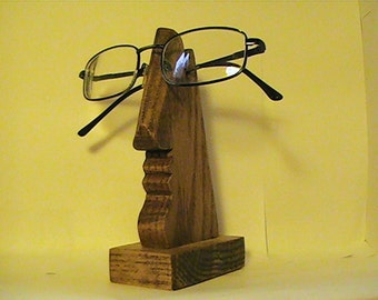 Eye Glasses Holder, Wooden Nose Glasses Holder, Handmade Glasses Holder