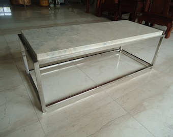 Luxurious marble coffee table.