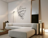 Large New York NYC Geometric Subway Map Decal for Home, Dorm, Office, Living Room or Bedroom