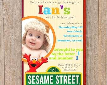 Sesame Street Birthday Invite PRINTABLE