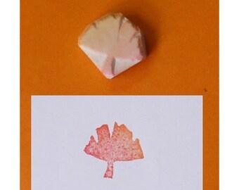 Ginkgo Leaf Hand carved Rubber Stamp -handmade rubber stamp, handcarved rubber stamp, hand carved stamp, handmade stamp, handcarved stamp