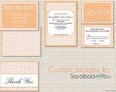 DIY Printable Custom Moroccan Tile Moorish Pattern Wedding Invitation Set - Digital Wedding Set