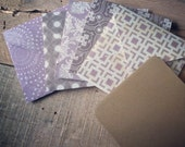 Mini Notecards with Envelopes. Purple and Brown