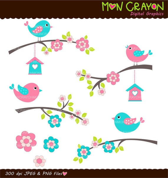 clipart flowers and birds - photo #12