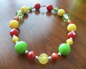 Chunky Necklace-An apple a day