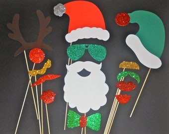 Christmas Photo Booth Props / Holidays photo booth props / Christmas Photobooth prop / Photobooth props/ Christmas Party