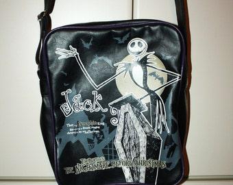 SALE 5 Dollars off Jack Skelington nightmare cross body black and purple bag