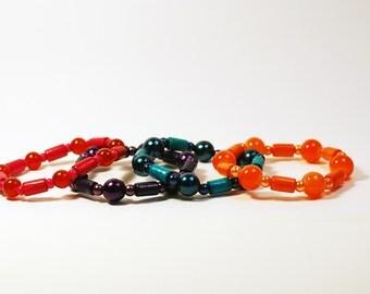Elegant Wood & Beads Bracelet