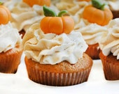Pumpkin Cupcake or Cake Toppers for Halloween Parties, Birthdays or Fall Events