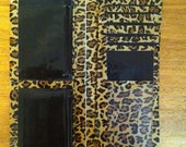 MADE TO ORDER (any color) - Cheetah Print Women's Wallet with Black Accents