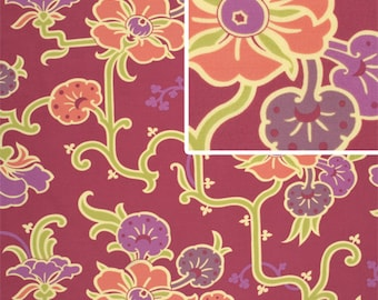 Velvet vine in Grape fabric Gypsy Caravan by Amy Butler 1 fat quarter