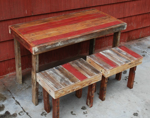 Items similar to Pallet Wood Dining Table on Etsy