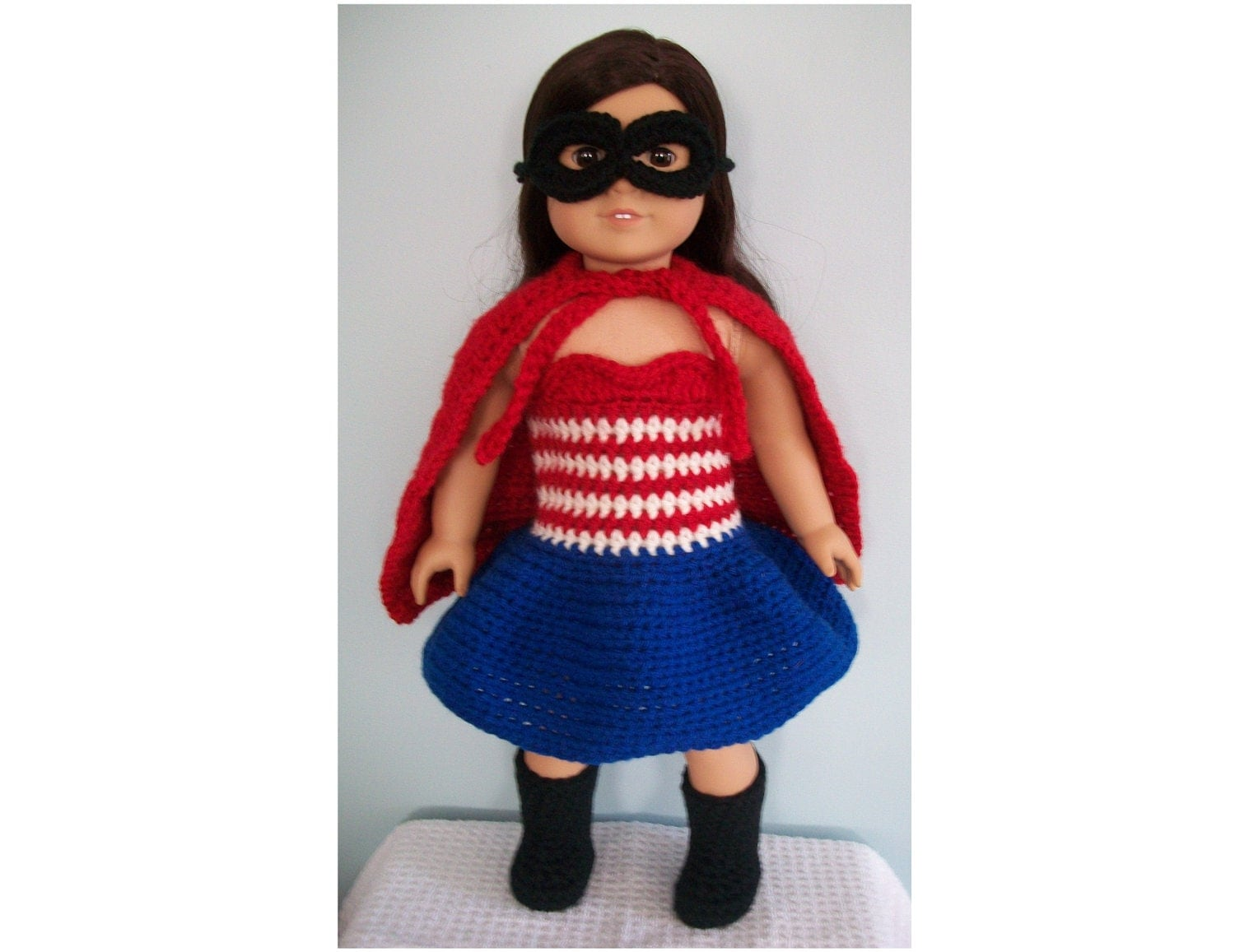 Crochet pattern superhero costume for american girl or other zoom bankloansurffo Image collections