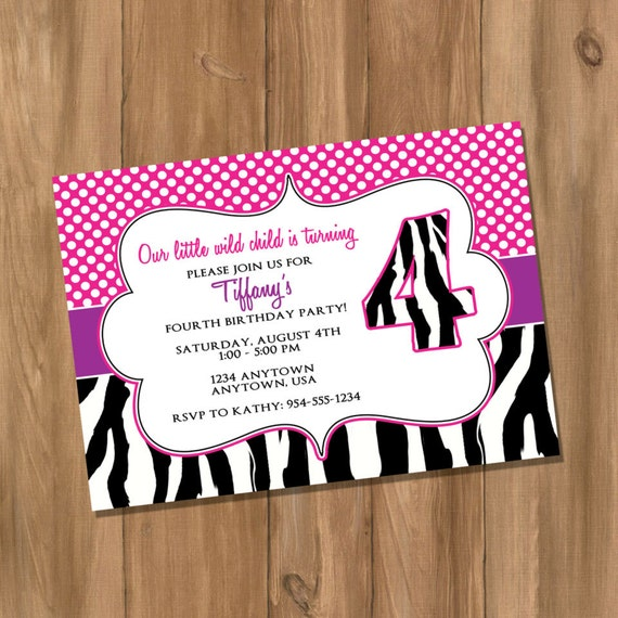 Items Similar To Pink And Purple Zebra Birthday Party