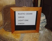 Rare solid cedar wood 10x10 size picture photo craft frame oak finish country rustic display