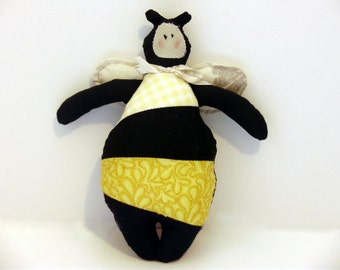 Bee Toy, nursery soft toy, Striped Toy, woodland toy, honey bee, bee gift, Bumble Bee Toy, garden toy, bee plushie, bee doll, bee soft toy
