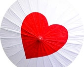 Personalized Wedding Heart Parasol - Custom