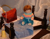 Hand crafted Doll Bed -- Large Doll, American Girl size, White finish