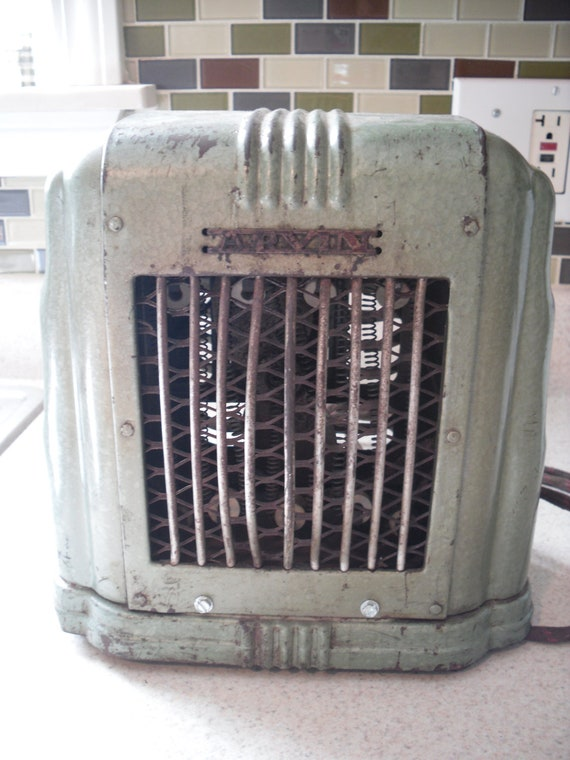 Arvin Vintage 40 S Art Deco Electric Space Heater With Fan