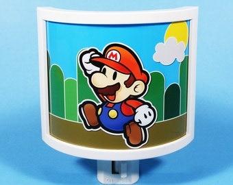 Super Mario Night Light Nintendo Nostalgia mario brothers Gifts Under 20 boys room decor Video Game Gifts for Gamers Nerds Geeky Retro Luigi