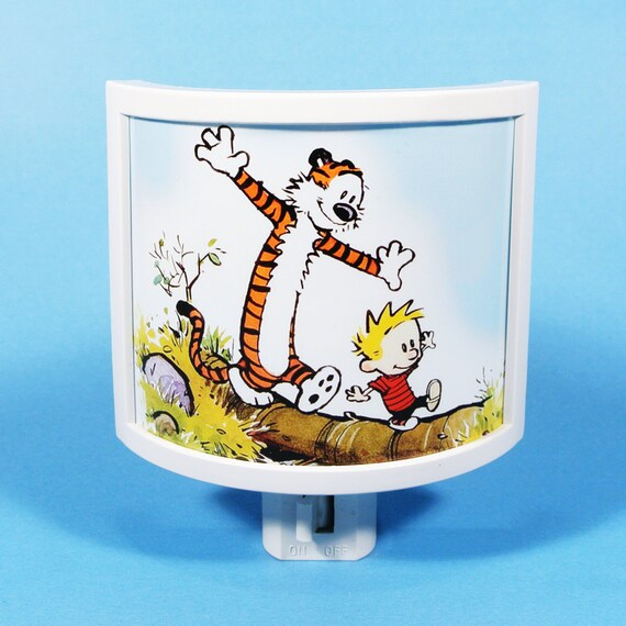 Calvin and hobbes night light nursery decor kids room best for Calvin and hobbes kids room
