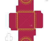 Golden Mandala Gift Box - Printable Digital Sheets