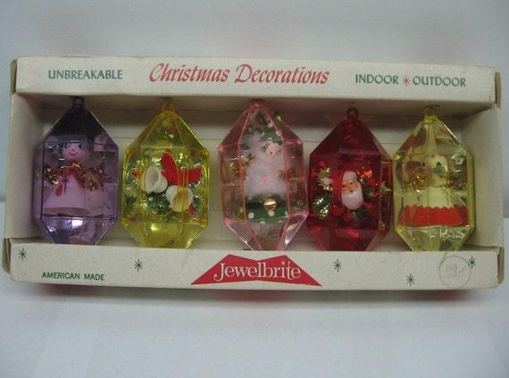 vintage jewelbrite ornament Christmas decoration spun cotton japan box