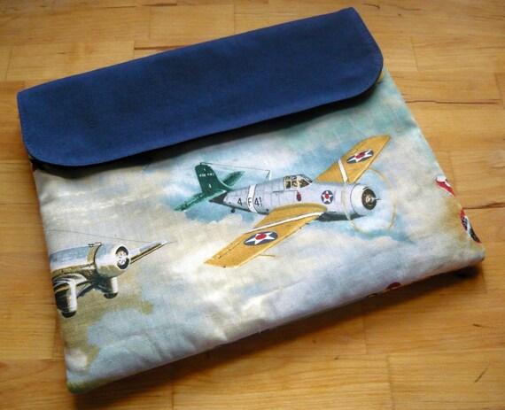 SALE - WWII / WW2 Airplane Print iPad Sleeve / Clutch / Cover / Case