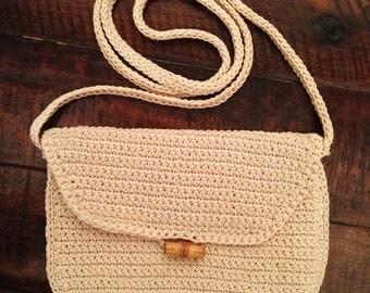 Vintage Small Crochet Purse - Hand Made