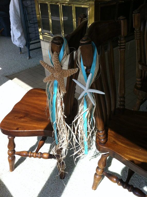 Bride and Groom Starfish Chair Decoration