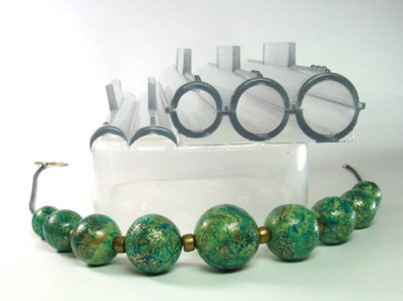 2 sets of bead rollers for polymer clay // make consistent round beads  // 18mm, 16mm, 13mm, 4mm, 5mm, 6mm, 7mm & 8mm sized