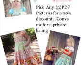 Girls Boutique PDF Patterns Juvie Moons Boutique  3 or more  PDF Pattern Volume Discount