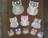 wise old owl embellishments
