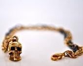 Metal Skull Charm Bracelet